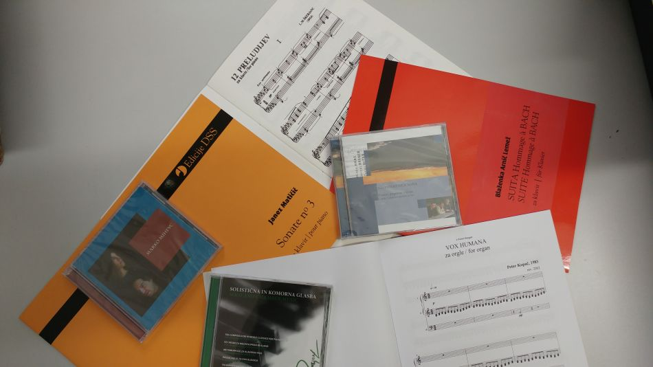 The Society of Slovene Composers announces monthly sale of sheet music for keyboard instruments
