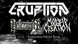 Eruption, Hellcrawler, Morbid Creation, TrainStation SubArt, 12. november 2016